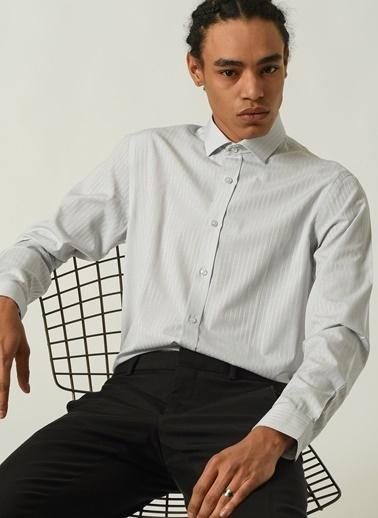 People By Fabrika Erkek   Gömlek PFEAW20GM0152 Beyaz